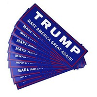 10PC/ Lot Decal Accessories Car Bumper Stickers With Lettering Donald Trump President Campaign Window Film Sticker Self Adhesive