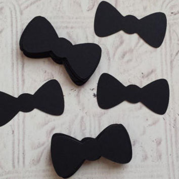 50 Die Cut Bow Ties, Bow Tie, Gender Reveal Decor, Baby Shower Decor, Bow Tie Cupcake Toppers