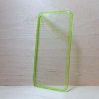 Super slim TPU Soft Silicone Bumper and Clear Hard Acrylic Back Case for iphone 6 (4.7 inches) - Transparent Green