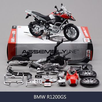 1:12 Assembly DIY Motorcycle Bike Model--BMW R1200 GS
