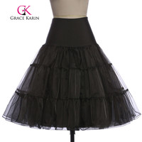 Grace Karin White Petticoat Short Black Red Women For Vintage 50s Dress Vintage Crinoline Rockabilly Petticoat Underskirt 2016