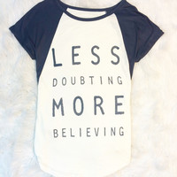 MORE BELIEVING TOP IN CHARCOAL