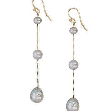 Chan Luu Tiered Floating Pearl Earrings