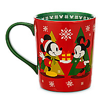 Mickey and Minnie Mouse Holiday Mug