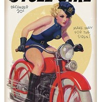 Cycle Girl Metal Sign