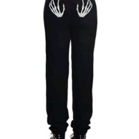 SWEATPANTS - SKELETON HANDS by Too Fast Clothing