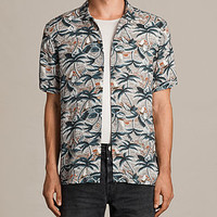 ALLSAINTS UK: Mens Vanuatu Short Sleeve Shirt (CONCRETE GREY)