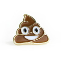 NO FUN Happy Poop Lapel Pin