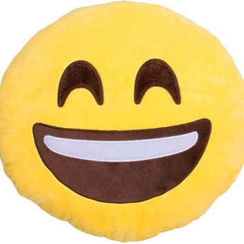 Smiling Face Emoji Pillow