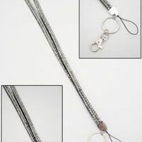 "Brand New-December Diamonds ""Diamond"" Rhinestone Employer Identification Lanyard for ID. Perfect Nurse Appreciation,Teacher,or Graduation Gift! Display your Employer ID with Pride!!!"
