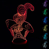 New Super herol Spider-Man 3D Table Lamp Luminaria LED Night Light Kids Children's room Decorative lighting  great gift for kids