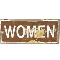 Vintage Women Metal Sign She Shed Shack Cave Wall Hanging Decor Retro Distressed Worn Chipped Paint Ladies Bathroom Gifts For Her