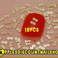 15pcs (DOLLAR SIGNS) Nail Art Decoration Nail Charms.