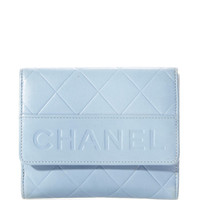 Vintage Chanel Blue Caviar Wallet From What Goes Around Comes Around by Vintage Chanel from What Goes Around Comes Around - Moda Operandi