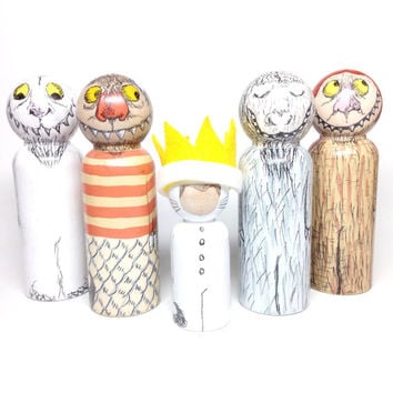 the storybook collection: where the wild things are peg doll set