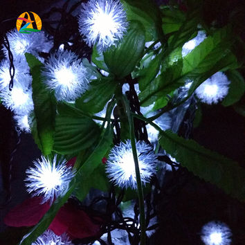 12M 100 LED Pendant LED solar lamp string  Lights Decoration For Christmas Tree Party  Outdoor Garden Patio Lantern