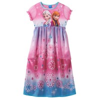 Disney's Frozen Elsa & Anna Sparkly Sisters Nightgown - Girls