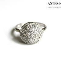 Promise ring - Cubic zirconia ring - Fashion jewelry - Fashion ring - Circle ring - Round ring