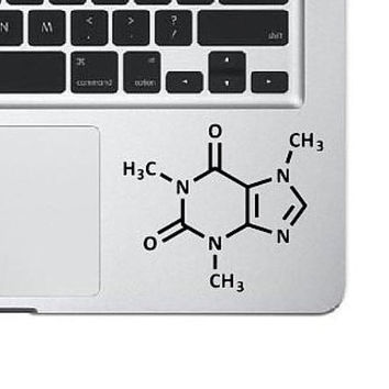 Caffeine Molecule Laptop Decal
