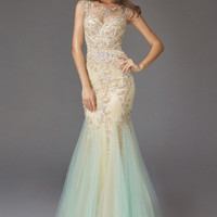 Beading Tulle Long Dress Sexy Sequin Bodice Plus Size Dress Elegant Mermaid Gown