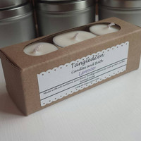 Lavender - 6 All Natural Soy Tea Light Candles