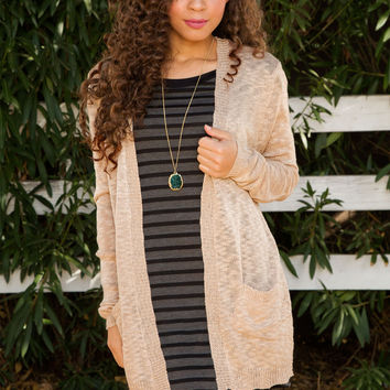 Dulcet Knit Cardigan - Taupe