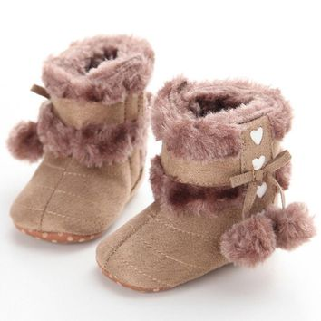 Autumn Winter Baby Snow Boots Newborn Baby Infant Toddler Girl Snow Boots 2017 New Arrival Fashion Crib Shoes Prewalker Booties