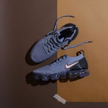 "Nike Air VaporMax Flyknit 2.0 W ""Light Blue&Black"" Running Shoes 942843-401"