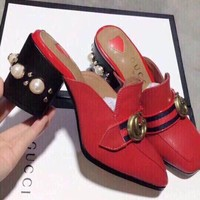 Gucci Women Casual Shoes Boots fashionable casual leather Women Heels Sandal