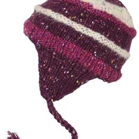 Surfanic Womens Fleck Sherpa Beanie Purple