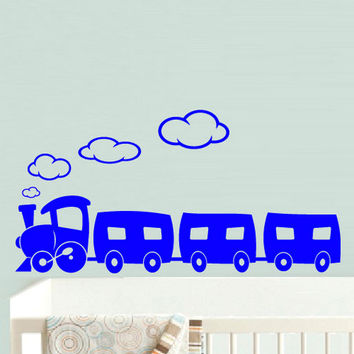 rvz518 Wall Vinyl Sticker Bedroom Decal Nursery Kids Baby Train Magic
