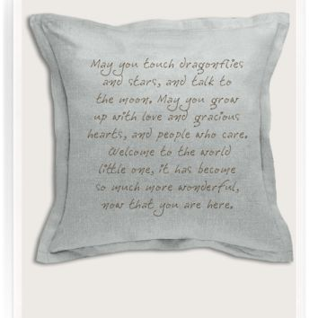 "May You Touch Dragonflies Belgian Linen 22"" Square Sofa Pillow"