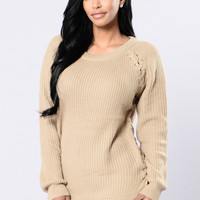 Braided Sweater - Taupe
