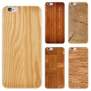 DCK9M2 Cell Phone Case For iPhone 5 5s 6 6s 7 Plus New Arrival Wood Grain Marble Soft TPU Silicone Case Cover for iPhone 7 Plus PC-023