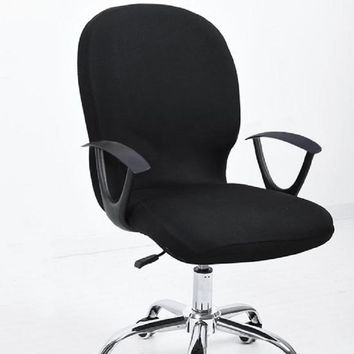 Elastic Office Chair Covers Seat Covers for Computer Chairs Stretch Rotating Chair Cover Office Computer Desk Seat Slipcover
