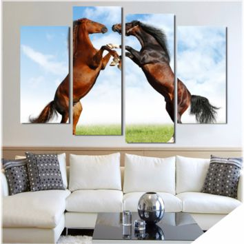 DANCING HORSES WALL ART - 4 PIECE