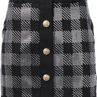 Balmain Checked Mini Skirt