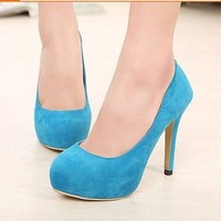 Women Strappy High Heels Pumps Leather Sexy Dress Wedding Shoes Party Bridesmaid Ladies Wear Plus Size 36-42 Low Cut 3 Colors