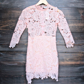 Lioness killer lace dress in blush