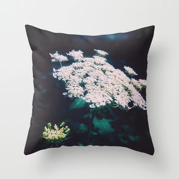 Anne's Lace Throw Pillow by DuckyB (Brandi)