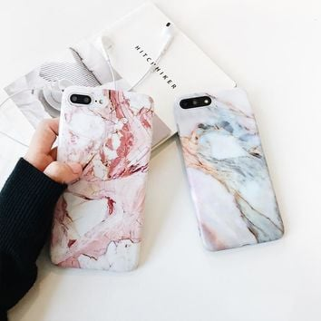 """Fundas for iPhone 7plus Case for iPhone 7 Marble Granite Phone Case for iPhone 6plus 6splus 6 6s 4.7"""" 5.5 Soft Gel Skin Gel Back"""