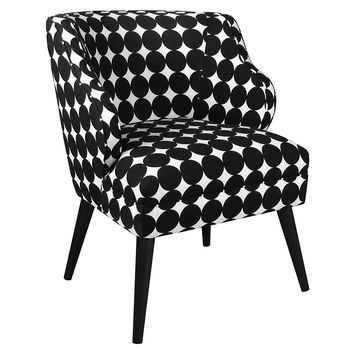 Kira Chair, Black/White Polka Dot, Accent & Occasional Chairs