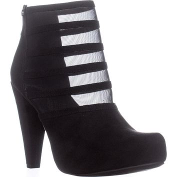 G by Guess Talza Striped Boots, Black, 8.5 US