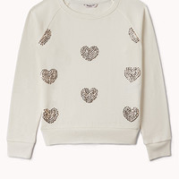 Sequined Hearts Sweatshirt (Kids)