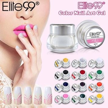 Elite99 3D Nail Art Paint Color Gel Draw Painting Acrylic Color UV Gel Tip DIY Nail Art Pick Any 1 Color In 12 Different Colors