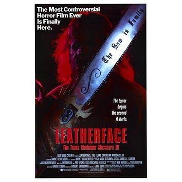 Texas Chainsaw Massacre Leatherface 3 Movie poster Metal Sign Wall Art 8in x 12in