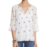 White House | Black Market A-line Embellished Blouse
