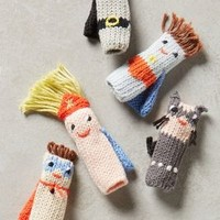 Blabla Handknit Finger Puppets in Multi Size: Set Of 5 Gifts