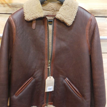PERFECTO LEATHER SHEEPSKIN JACKET SCHOTT NYC  P25B6