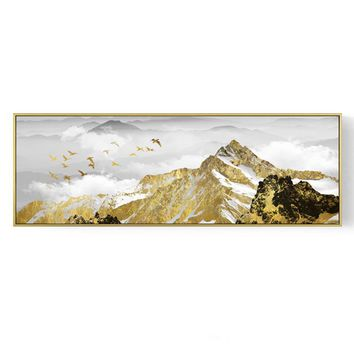 Contemplating Landscape 72.0'' Mural Painting